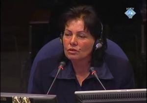 Lizane Malaj svedoči na suđenju Vlastimiru Đorđeviću (ICTY TV, 10.02.2009.)