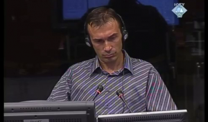 Armin Baždar tokom davanja iskaza (ICTY TV, 05.09.2011.)