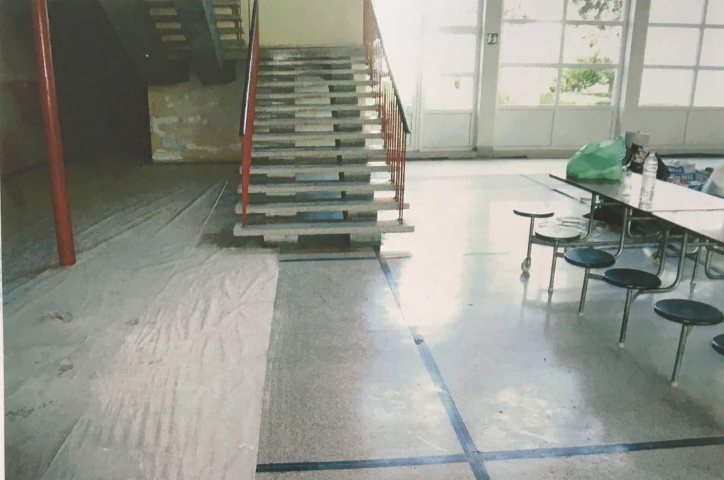 The main hall in the school building where the 1995 massacre took place. Source: Danish State Attorney.
