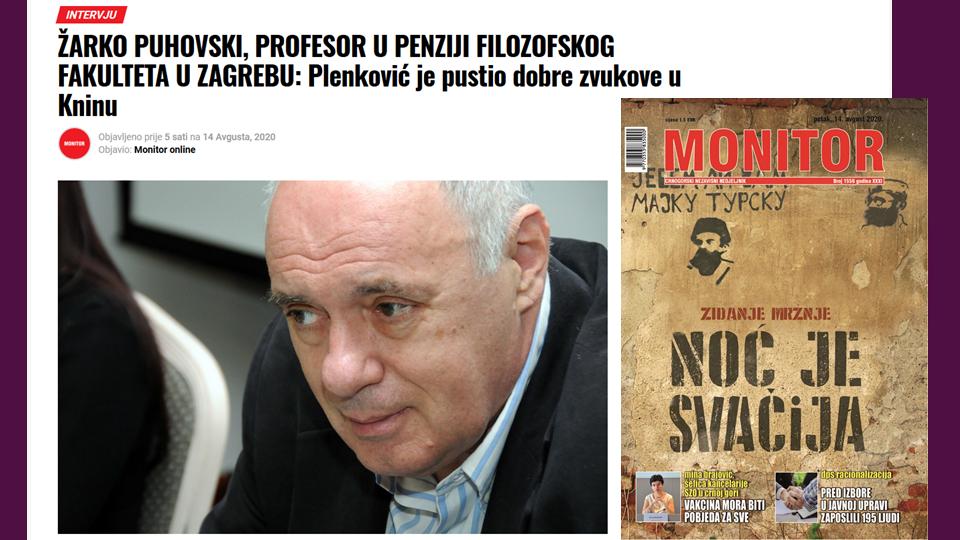 Žarko Puhovski, Monitor 1556 (Izvor: Monitor Online)