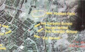 Lokacije stadiona i osnovne škole. Foto: Arhivski materijal Haškog tribunala iz predmeta protiv Radovana Karadžića