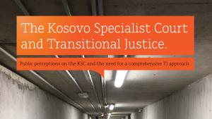 The Kosovo Specialist Court